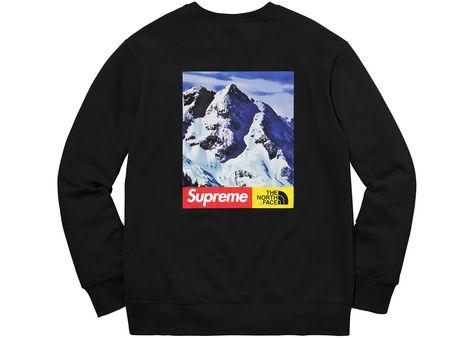 cc42a7d277bf Supreme x The North Face Mountain Crewneck Black