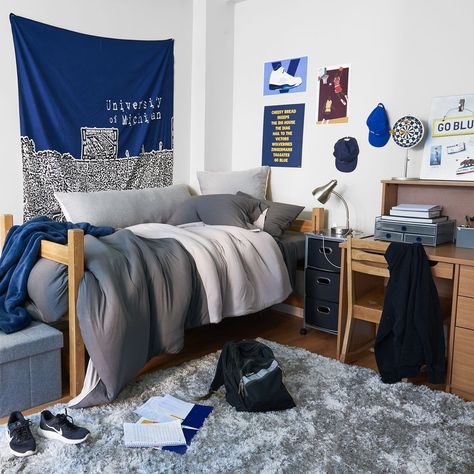 Two Tone Jersey Duvet Set - Full/Queen College Bedding Set | Dormify