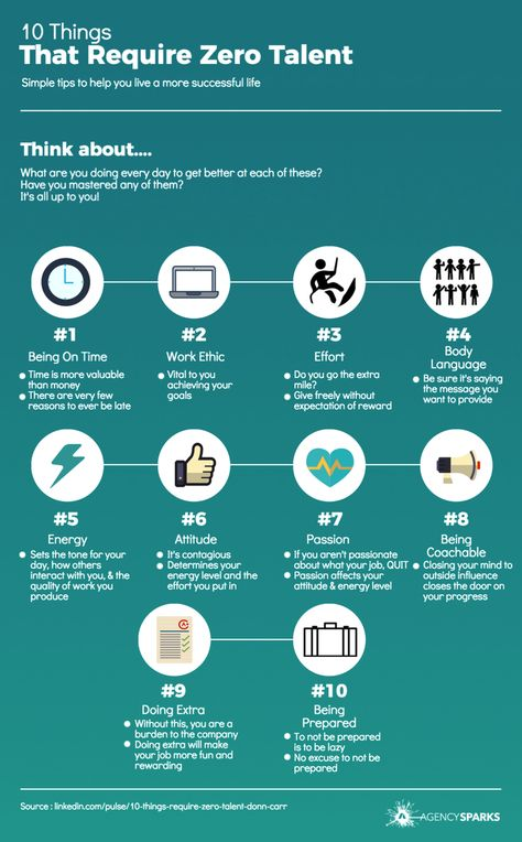 10 Things That Require Zero Talent Infographic Infographic You