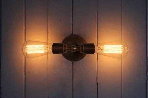 Mullan Vintage Double Wall Light Wall Lights Wall Light Fixtures Industrial Bathroom Lighting
