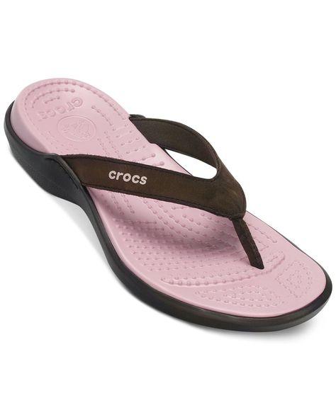 668ee44a1c32 Crocs Women s Capri Iv Flip Flops