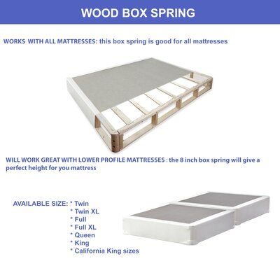 Spinal Solution Hollywood Wood Box Spring Size Full Xl Profile