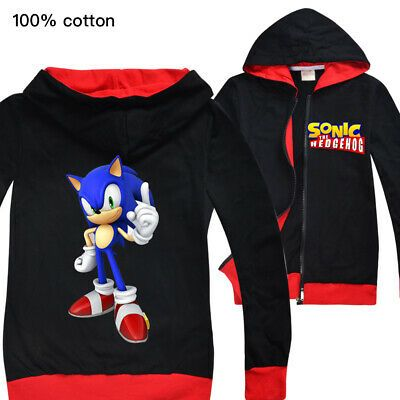 Sponsored Ebay Sonic The Hedgehog Boys And Girls Zipper Jacket Children S Cardigan Jacket Kids Outerwear Kids Outfits Boys Hoodies