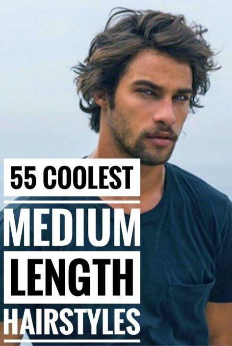 55 Coolest Medium Length Hairstyles For Men Medium Length Hair Styles Medium Length Hair Men Mens Hairstyles Medium
