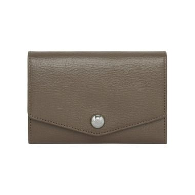 511ab03cf8 Mulberry - Dome Rivet French Purse in Taupe Shiny Goat