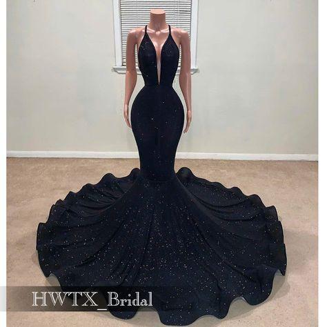 Dresses For Teens Black, Black Girl Prom Dresses, Senior Prom Dresses, Prom Outfits, Mermaid Prom Dresses, Black Sequin Prom Dress, Black Mermaid Dress, Black Formal Gown, African Prom Dresses