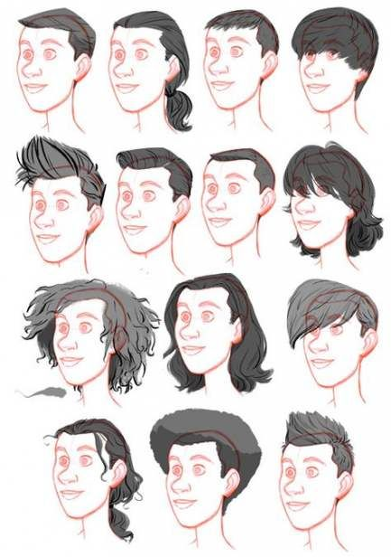 29 Trendy Ideas For Hair Drawing Reference Male Long Boy Hair Drawing Drawing Male Hair Guy Drawing