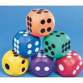Giant Wooden Yard Dice Outdoor Lawn Game By Hey Play Walmartcom