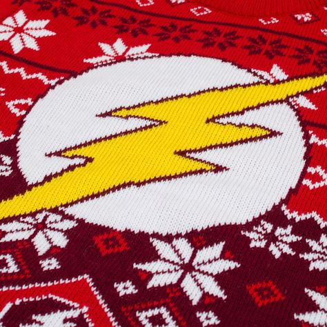 Flash Christmas Sweater Dc Comics Superhero Ugly Sweater All Sizes