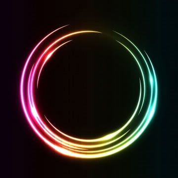 Abstract Circle Round Light Effect Rainbow On Colorful Ring Frame Vector Background Rainbow Clipart Colorful Event Png And Vector With Transparent Background Color Ring Round Light Vector Background