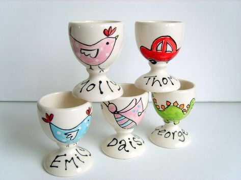 Photo of Personalised Ceramic Egg Cups