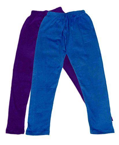 Indistar Girls Super Soft Ankle Length Cotton Lycra Leggings/_Blue