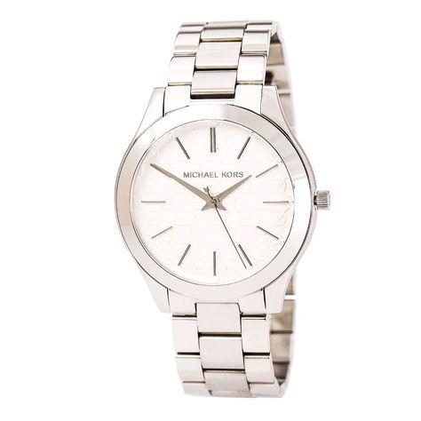 482dc74e4c86 Michael Kors MK3371 Women s Slim Runway Silver Tone Dial Stainless Steel  Bracelet Watch