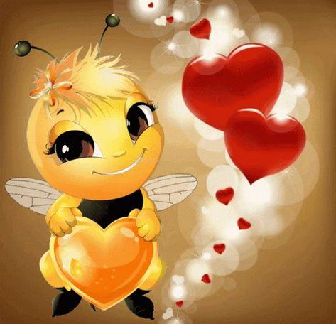 Kind Of Bee Heart GIF - KindOfBee Bee Heart - Discover & Share GIFs