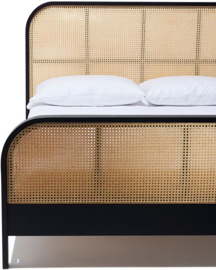 Cane King Bed Rattan Headboard Cane Bed Black Bedding
