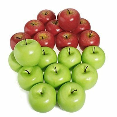 5//10Pcs Artificial Apple Fake Fruit Food Kitchen Office Home Party Decor