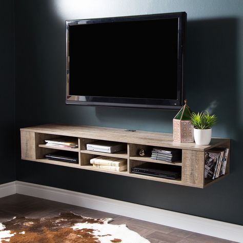 South Shore City Life 48 In Wall Mounted Media Console 9062675