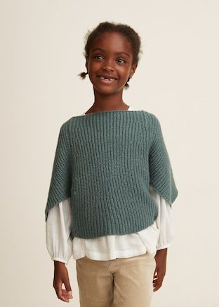 Dolman sleeve sweater Girls | Mango Kids USA | Dolman