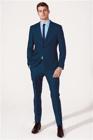 Buy Teal Skinny Fit Suit: Jacket from the Next UK online shop | My ...