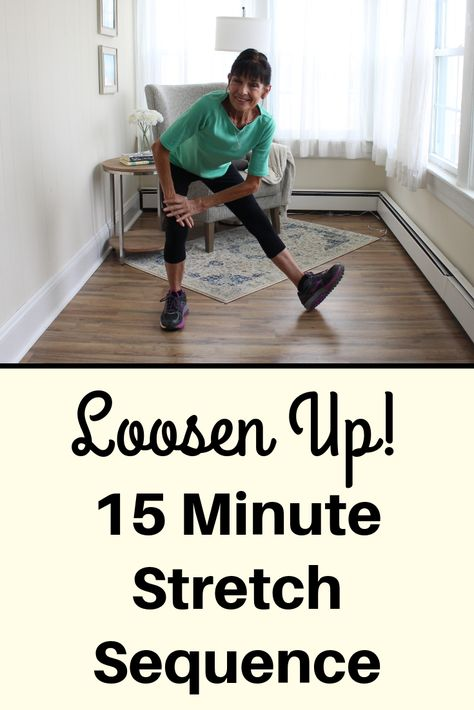 Loosen up stiff joints and release tight muscles with this low-intensity, 15 minute stretch routine Fitness Facts, Fitness Diet, Yoga Fitness, Health Fitness, Fitness Gear, Easy Workouts, At Home Workouts, Stretch Routine, Stretching Exercises