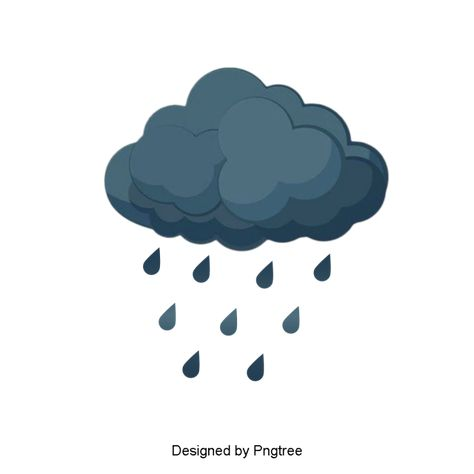 Beautiful Cool Cartoon Hand Painted Rain Water Droplets Clouds Weather Rain Clouds Png Transparent Clipart Image And Psd File For Free Download Cloud Drawing Clouds Cloud Stickers