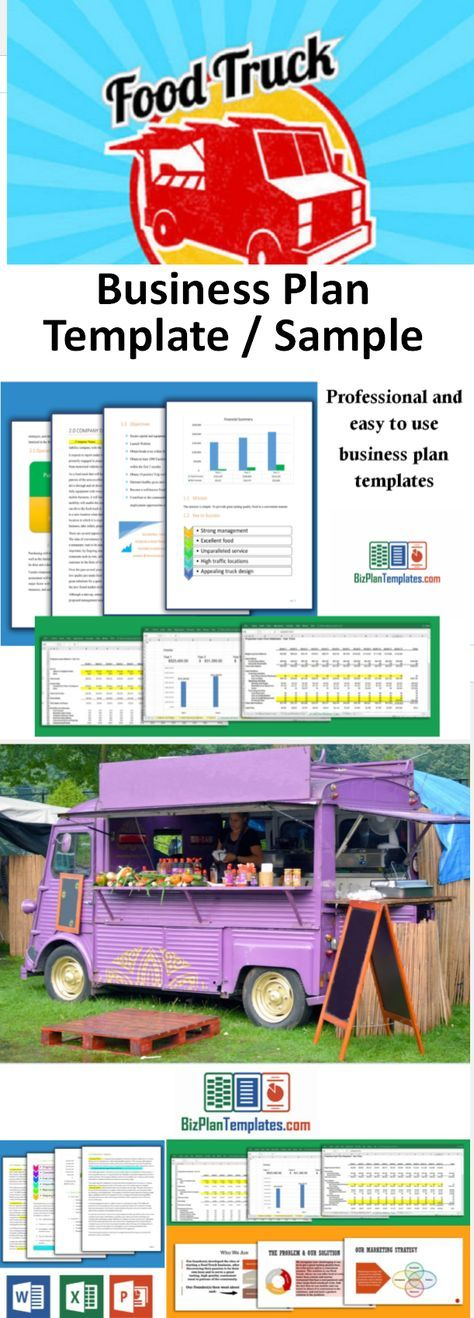 Business Plan Template For Starting And Running A Food Truck  Food