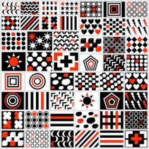 Free Printable Black White Red Newborn Visual Stimulation Patterns Baby Flash Cards Baby Cards New Baby Products