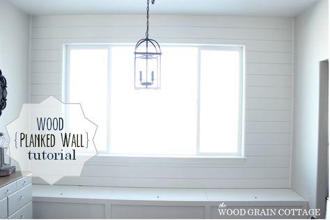 Breakfast Nook Plank Wall Tutorial