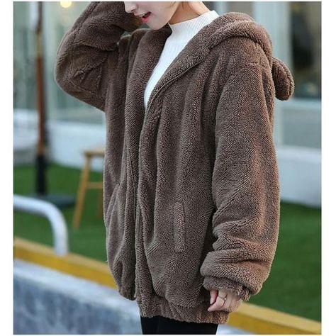 Spirio Womens Lapel Zip-UP Winter Fuzzy Warm Coat Outwear with Pockets