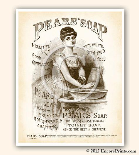 Pears Soap Bathroom toilet Plaque Sign gift vintage retro style door wall advert