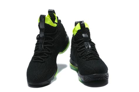 ec1d79383a80 New Style Nike LeBron 15 Mens Original Basketball Shoes Sneakers Coal Black  Pale Green