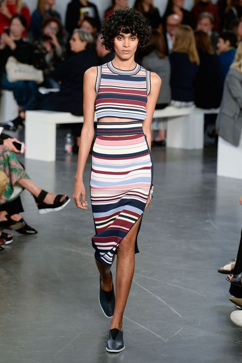 Striped Co-ords - matching top & skirt - simple & chic outfit - Sportmax SS18 MFW...x