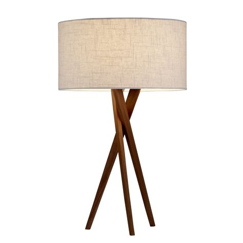 "Adesso Bryce 25"" H Table Lamp with Drum Shade"