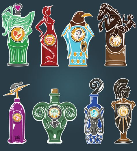 Bioshock Infinite Vigors Vigor Bottle Symbols Mug Devil/'s Kiss Bronco Undertow