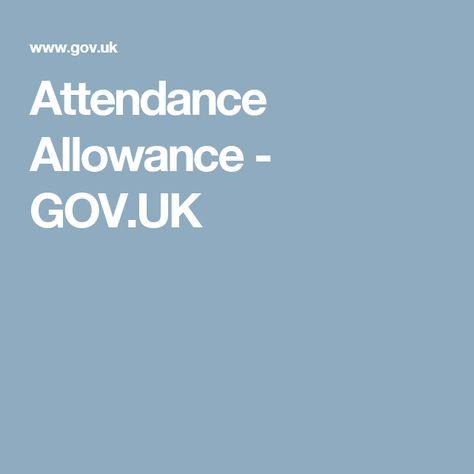Attendance Allowance - GOVUK - Attendance Allowance helpline - attendance allowance form