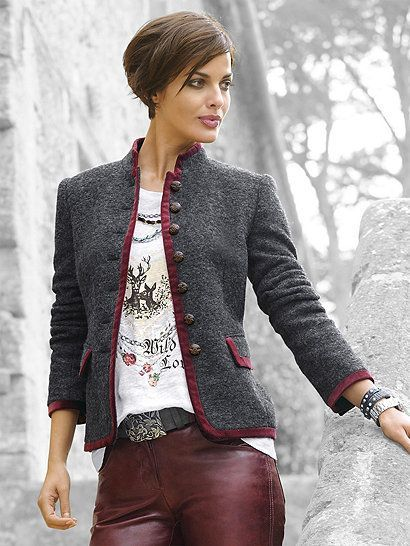 Alba Moda Damen Strickjacke: : Bekleidung