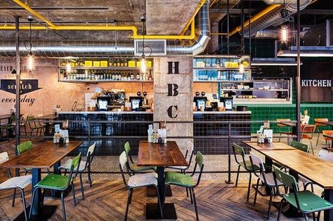 A new restaurant situated in the redeveloped Intu shopping centre in Nottingham developing further ideas on the use of reclaimed materials & industrial themes specific to the brand ethos mixed with id