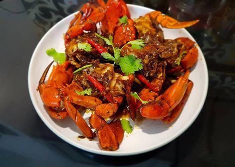 Resep Kepiting Lada Hitam Blackpepper Crab Oleh Vika Mumpuni Resep Resep Kepiting Masakan Asia Kepiting