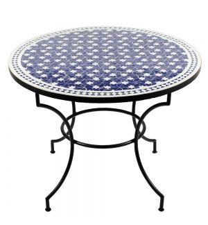 Mosaiktisch Maar Blau O 100cm Albena Marokko Galerie Mosaiktisch Kuchentisch Und Stuhle Mosaik