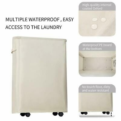 Chrislley Slim Rolling Laundry Hamper With Wheels Thin Laundry