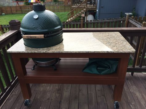 Hello, New member here. Just wanted to show off my Egg table i built for my Large BGE.