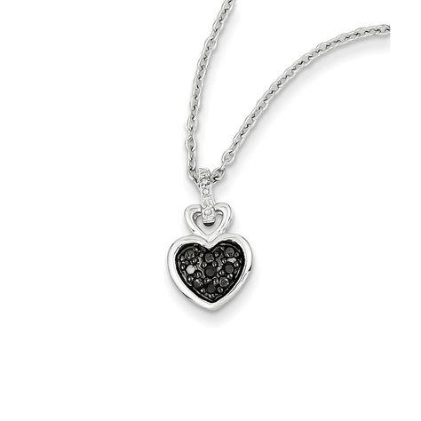 Sterling Silver 20 MM Diamond Trinity Heart Locket Charm Pendant