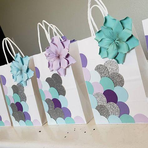 MERMAID Birthday Party Favor Bags Set of 10/ Goodie/ Goody/