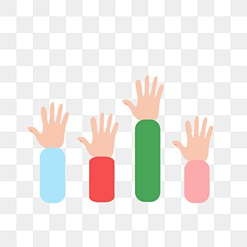 Raising Hands Vector Raise Your Hand Hand Painted Creativity Png Transparent Clipart Image And Psd File For Free Download Hand Clipart Hand Painted How To Draw Hands