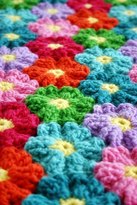 Hawaiian 3 FLOWERS CROCHET GRAPHGHAN | Pinterest