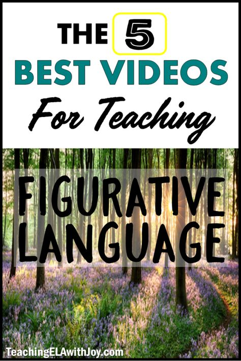 figurative teaching language videos best with for ela joy 5 5 BEST Videos for Teaching Figurative Language Teaching ELA with JoyYou can find Figurative language and more on our website Middle School Reading, Middle School English, 4th Grade Reading, Middle School Teachers, 7th Grade English, Early Reading, Sensory Language, Figurative Language Activity, Language Activities