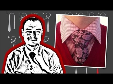 How to Tie a Necktie Balthus Knot - YouTube *** Notes - Another one to wear with a vest of jacket