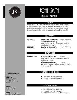 Free printable black and grey creative resume template. Instant ...