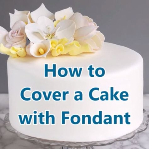 Love it or hate it, there is no doubt that a cake with a porcelain fondant finish is a thing of beauty. After you learn how to cover a cake with fondant you'll be ready to create spectacular celebration cakes. #easiest #howto #rolledfondant #tips #tutorial