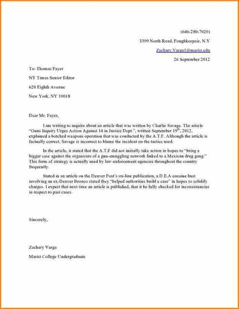 Image result for letter to editor format Formal Letters Pinterest - military letter of recommendation